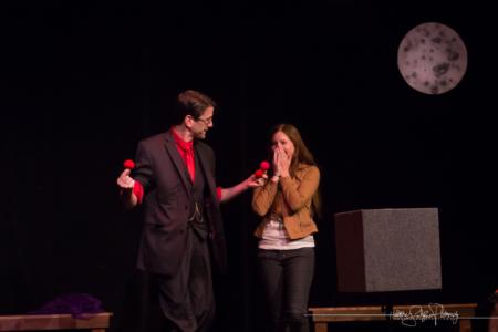 Audience member reacting to magic